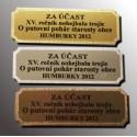 štítky kovové s potiskem