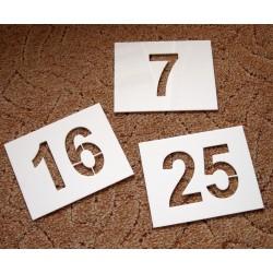 šablony pro nástřik číslic