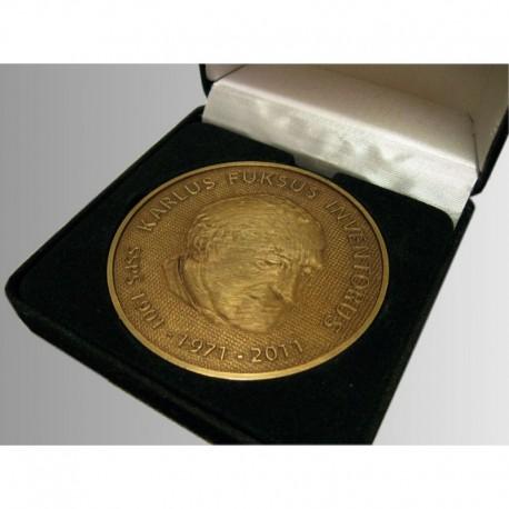 medaile 3D mosaz patina